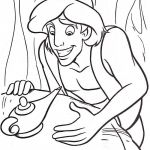Genie Coloring Page Wonderful Aladdin Find A Magic Lamp Cartoon Coloring Pages