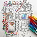 Gingerbread House Coloring Best Holiday Gingerbread House Coloring Page Products