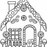 Gingerbread House Coloring Creative Beautiful Nightmare before Christmas Characters Coloring Pages