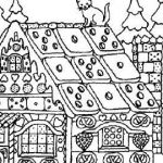 Gingerbread House Coloring Inspired 65 Free Minecraft Coloring Pages Blue History