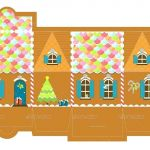 Gingerbread House Coloring Wonderful House Template to Print – Heresthekicker