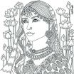 Girl Coloring Pages Marvelous Native American Indian Girl Coloring Pages Beautiful Indian Coloring