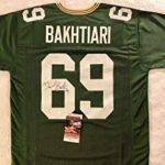 Green Bay Packers Coloring Book Best David Bakhtiari Autographed Signed Green Bay Packers Jersey