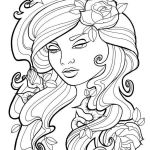 Gypsy Coloring Pages Best Of 20 Rose Adult Coloring Book Girl Pages Ideas and Designs