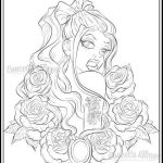 Gypsy Coloring Pages Fresh 20 Adult Coloring Book Pages Rose Tattoo Ideas and Designs