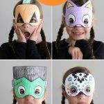 Halloween Mask Coloring Pages Awesome Halloween Masks to Print and Color It S Always Autumn