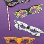 Halloween Mask Coloring Pages Awesome Mardi Gras Masks Printable Pdf Color In Masks Paper Craft