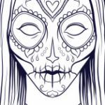 Halloween Mask Coloring Pages Brilliant Coloring Pages Halloween Spiders Disney Cat Masks Adult Ghost for
