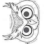 Halloween Mask Coloring Pages Marvelous Owl Cute Printable Halloween Animal Paper Masks Mask Coloring Page