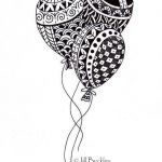 Halloween Zentangle Patterns Best Balloons Zentangle Art Ideas