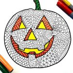 Halloween Zentangle Patterns Excellent Jack O Lantern Pdf Zentangle Coloring Page In 2019