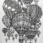 Halloween Zentangle Patterns Inspirational Hot Air Balloons Doodle Art Doodle and Zentangle