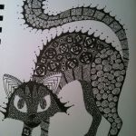 Halloween Zentangle Patterns Wonderful Zentangle Black Cat Halloween Zentangle Inspired Art