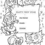 Happy Birthday Cards to Color and Print Fresh Kids Happy New Year Greeting Cards Coloring Page