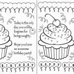 Happy Birthday Cards to Color and Print Unique 93 Birthday Card Template for Mom Diy Birthday Cards for Mother