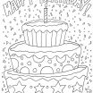 Happy Birthday Coloring Pages for Adults Best Happy Birthday Adult Coloring Pages at Getdrawings
