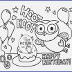 Happy Birthday Coloring Pages Free Excellent Coloring Page Happy Birthday