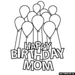 Happy Birthday Mommy Coloring Pages Beautiful Happy Birthday Mom Coloring Page Coloringpagebase
