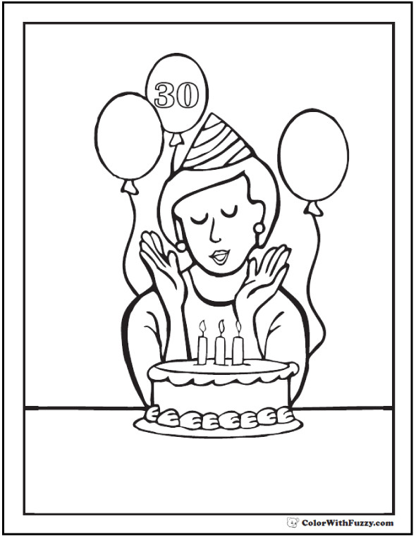Search results for Happy birthday coloring pages on GetColorings