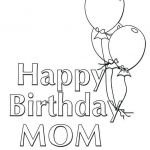 Happy Birthday Mommy Coloring Pages Pretty Happy Birthday Balloons Coloring Pages at Getdrawings