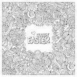 Happy Easter Coloring Pages Amazing Easter Adult Coloring Page