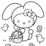 Happy Easter Coloring Pages Awesome Hello Kitty Happy Easter Coloring Page Free Coloring Pages Line