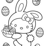 Happy Easter Coloring Pages Inspired Hello Kitty Happy Easter Coloring Page Free Coloring Pages Line