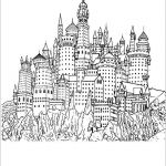 Harry Potter Printable Coloring Pages Inspiration Harry Potter Castle Coloring Pages