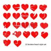 Heart Pics to Color Inspired Heart Red Color Two Items with View Ballon Royalty Free Vector Free