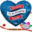 Heart Shapes to Print Excellent Indi Ts Brother to An Amazing Sister Quote Printed Heart Shape