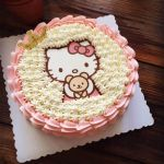 Hello Kitty Christmas Tree topper Best 1pcs A4 Hello Kitty Wafer Paper Edible Cake topper Edible Paper Rice