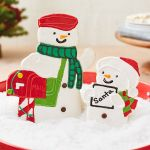 Hello Kitty Christmas Tree topper Exclusive Special Delivery Snowman Sugar Cookies