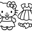 Hello Kitty Color Pages Awesome Coloring Free Printout Cartoon Cute Hello Kitty Play Schooling