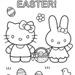 Hello Kitty Color Sheets Exclusive Hello Kitty Happy Easter Coloring Page Free Coloring Pages Line