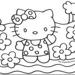 Hello Kitty Color Sheets Inspired Coloring Book World Hello Kitty Mermaid Coloring Pages Cool Od Dog