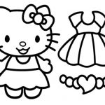 Hello Kitty Color Sheets Inspired Coloring Free Printout Cartoon Cute Hello Kitty Play Schooling