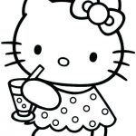 Hello Kitty Color Sheets Marvelous Baby Hello Kitty Coloring Pages Paper Cat K – thewestudio