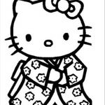 Hello Kitty Color Sheets Pretty Hello Kitty Info Coloring Home