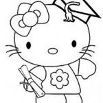 Hello Kitty Coloring Brilliant Hello Kitty Graduation Coloring Pages Education
