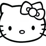Hello Kitty Coloring Excellent Hello Kitty Face Coloring Pages Template Mickey Mouse Outline Head