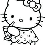 Hello Kitty Printable Coloring Pages Brilliant Baby Hello Kitty Coloring Pages Paper Cat K – thewestudio