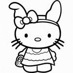 Hello Kitty Printable Coloring Pages Brilliant Big Hello Kitty Coloring Home