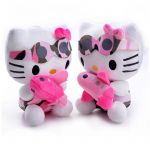 Hello Kitty Snowman Amazing Cute Hot Pink Floral Hello Kitty Cartoon Cat Plush Hello Kitty Hold
