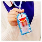 Hello Kitty Snowman Exclusive Silicone Cartoon Id Card Holder with Hanging Rope Hello Kitty