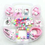 Hello Kitty Snowman Pretty Fashion Children Headwear Bowknot Hello Kitty Hair Clips Gum Elastic