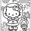 Hello Kitty Snowman Pretty Hello Kitty Christmas Coloring Pages Free Unique Pics Coloring Pages