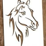 Horse Head Stencil Awesome 74 Best Horse Stencil Images In 2019