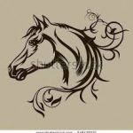 Horse Head Stencil Best Image Result for Horse Tattoos Horse Tattoos