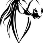 Horse Head Stencil Excellent 74 Best Horse Stencil Images In 2019