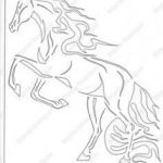 Horse Head Stencil Exclusive 155 Best Horse Stencils Images In 2019